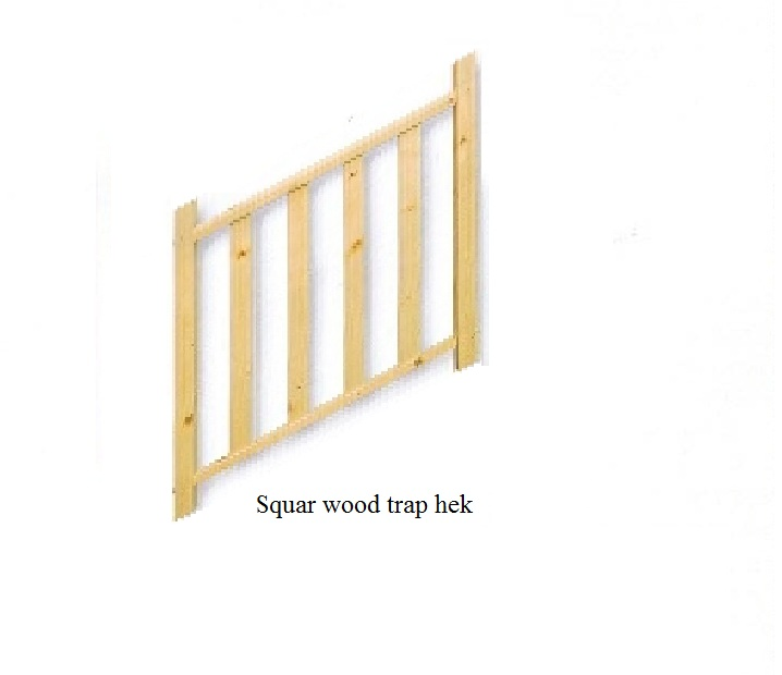 Square wood leuning
