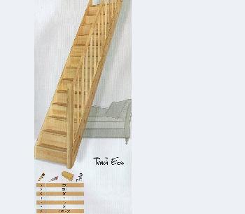 Bouwpakkettrappen doe het zelf trappen houten trappen en for Vurenhouten steektrap